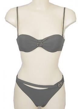 Costume bikini fascia bras EMPORIO ARMANI 262298 4P300 T.XS 10643 GREIGE