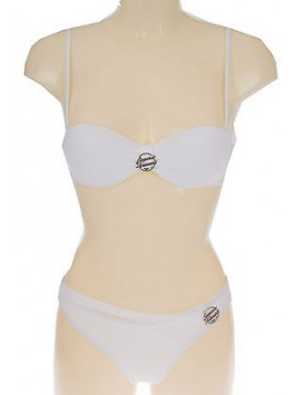 Costume bikini fascia brasil EMPORIO ARMANI 262298 4P300 T.XS 00010 BIANCO