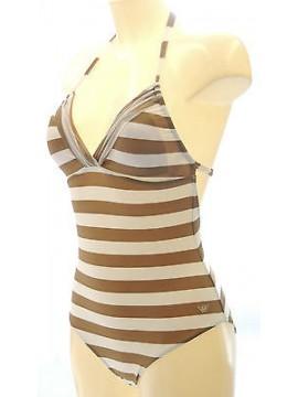 Costume intero coppe removibili EMPORIO ARMANI 262199 3P355 T.S col.25410 righe