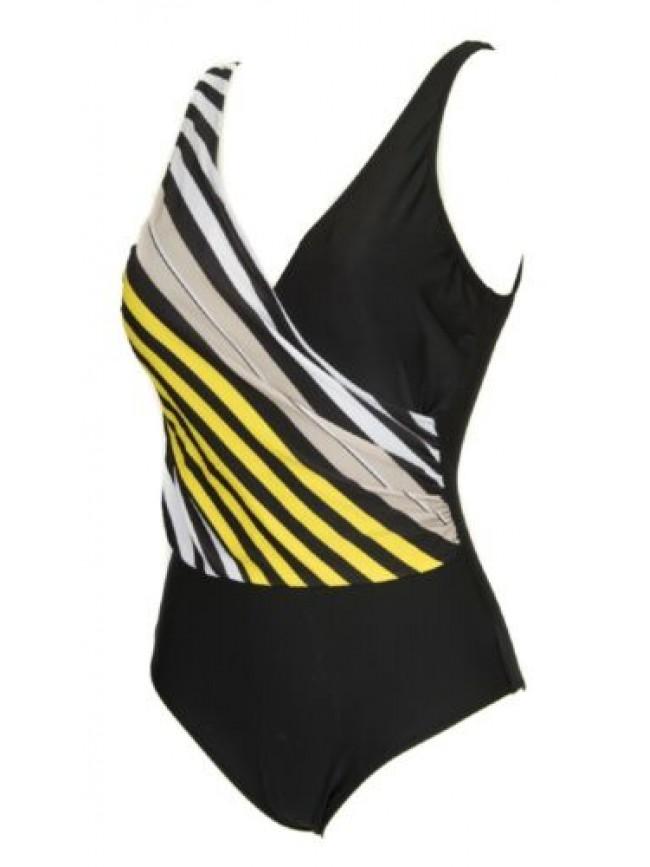 Costume intero incrociato donna mare o piscina coppa preformata RAGNO articolo 7