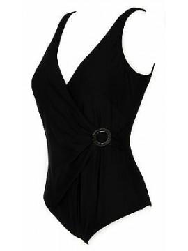 Costume intero mare donna beachwear RAGNO a. A1112D taglia 100/5 C col. 020 NERO
