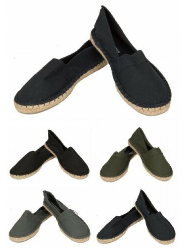 Espadrillas scarpe uomo in cotone beachwear EMPORIO ARMANI articolo 210578 5P497
