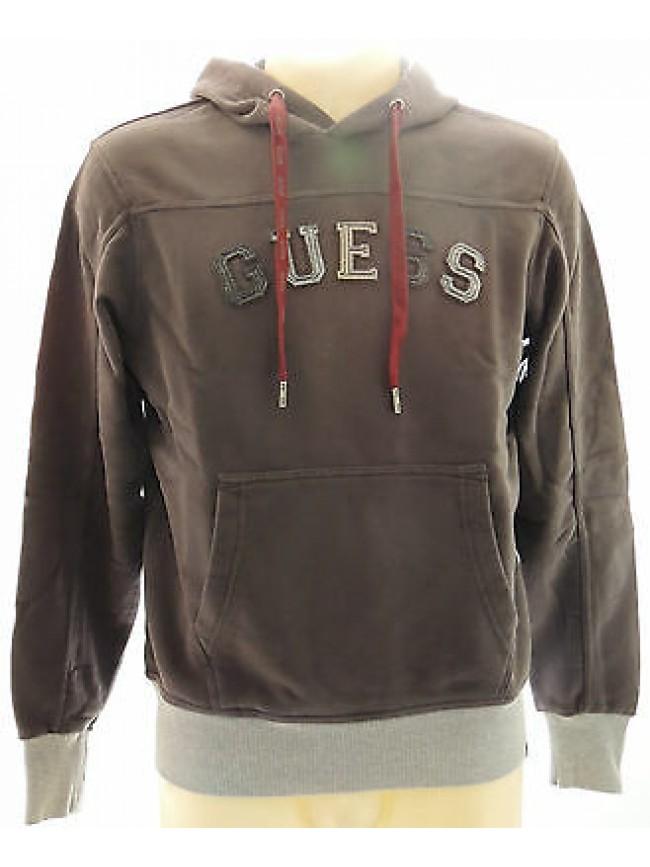 Felpa cappuccio maglia uomo hoodie fleece GUESS art.UA8I36 T.XL col.U533 grigio