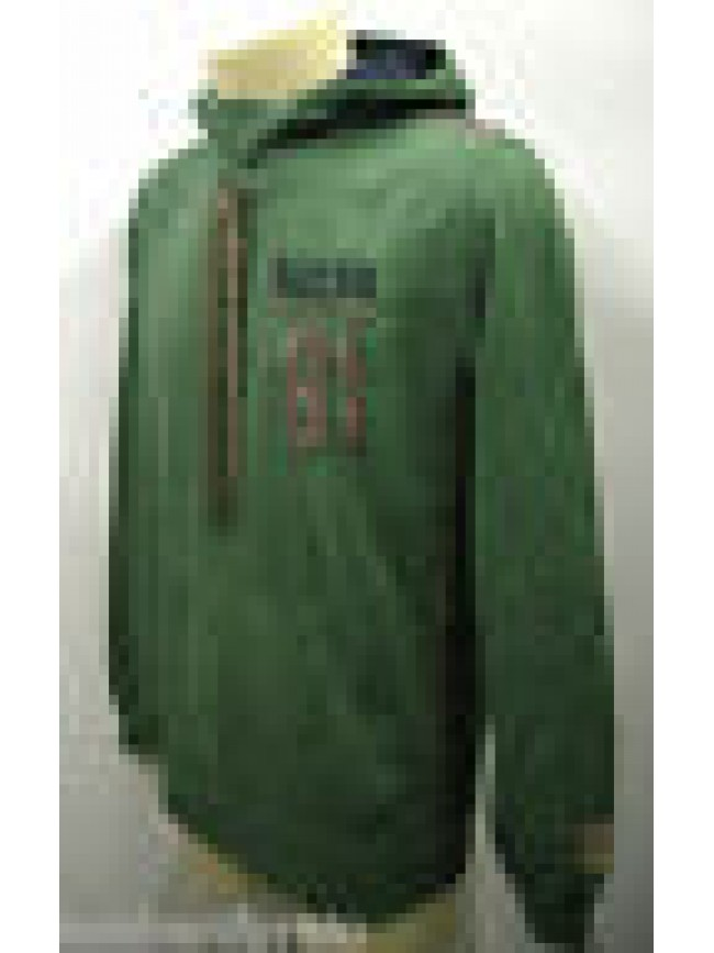 Felpa cappuccio maglia zip uomo hoodie fleece GUESS UB6I36 T.S D886 verde green
