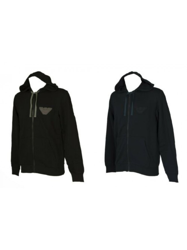Felpa maglia giacca EMPORIO ARMANI uomo aperta con zip manica lunga invernale ar