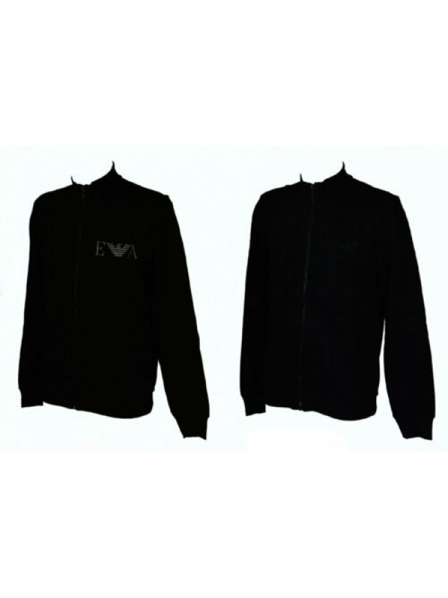 Felpa maglia giacca uomo aperta con zip manica lunga loungewear EMPORIO ARMANI a