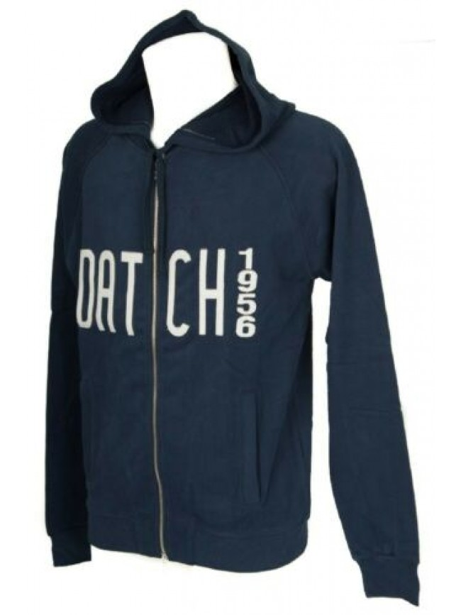 Felpa maglia manica lunga uomo cotone full zip con cappuccio DATCH articolo HU00