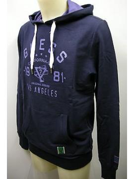 Felpa maglia uomo hoodie fleece man GUESS art.UA7I36 T.3/S col.U750 deep blue