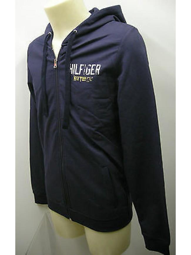 Felpa maglia uomo zip porter hoodie TOMMY HILFIGER 2S87901865 T.S 409 blu bleu