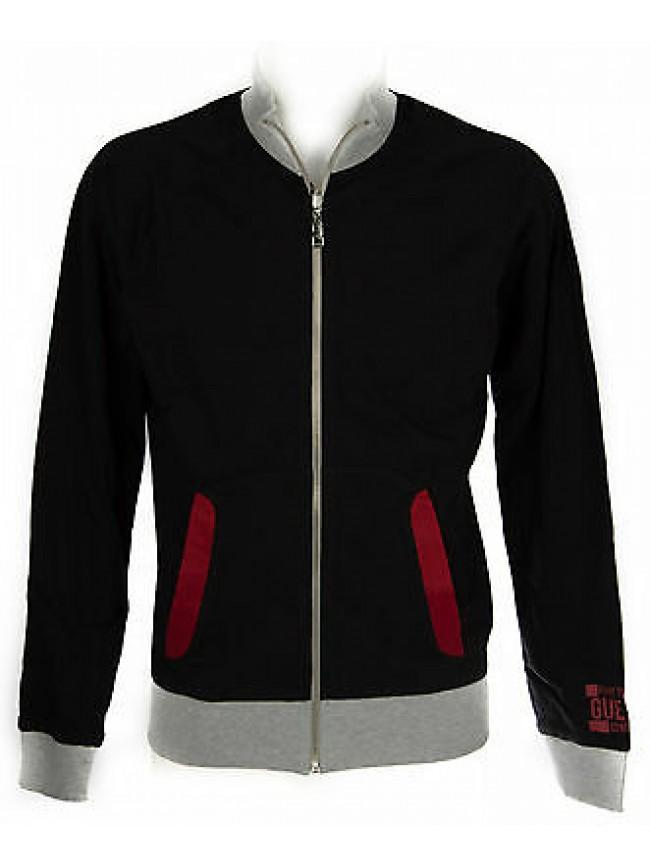 Felpa maglia zip uomo reversibile GUESS art.U52Q11 taglia XXL colore M90 GRIGIO