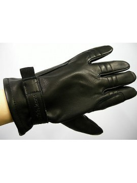 GUANTI PELLE GLOVES LEATHER CK CALVIN KLEIN JEANS CMS316 T.M C.NERO REGALO GIFT