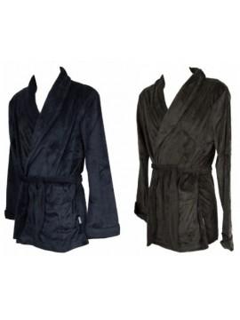 Giacca da camera uomo in morbido e caldo pile vestaglia corta homewear RAGNO art