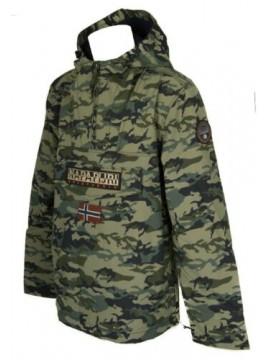 Giaccone giacca giubbotto uomo con cappuccio NAPAPIJRI articolo N0YI5P RAINFORES