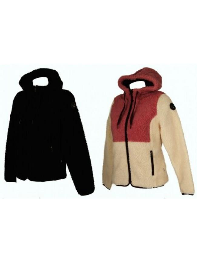 Giaccone giubbotto giacca felpa donna con cappuccio tasche e zip NAPAPIJRI artic