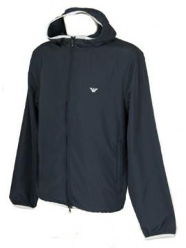 Giubbotto giacca a vento uomo con zip cappuccio e tasche EMPORIO ARMANI articolo