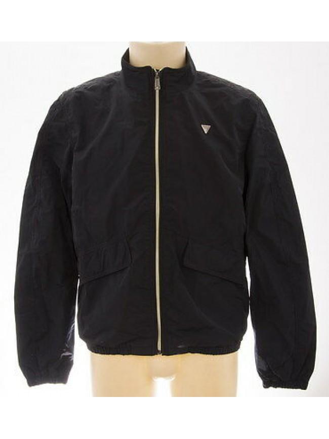 Giubbotto giubbino zip uomo jacket man GUESS a.M41L06 T.L c.D775 new stark navy