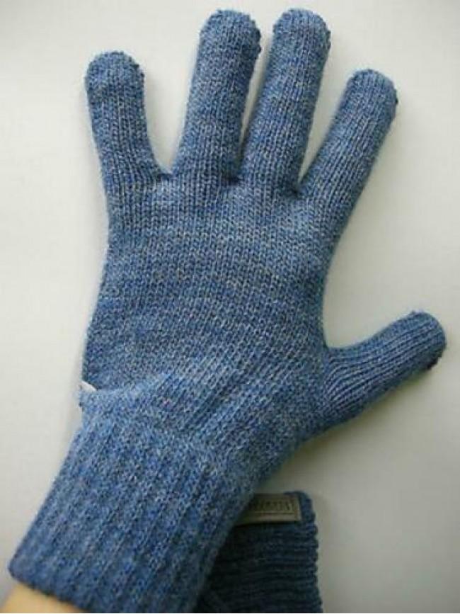 Guanti donna gloves woman ENRICO COVERI a.MG1041 t.unica col.29 denim Italy