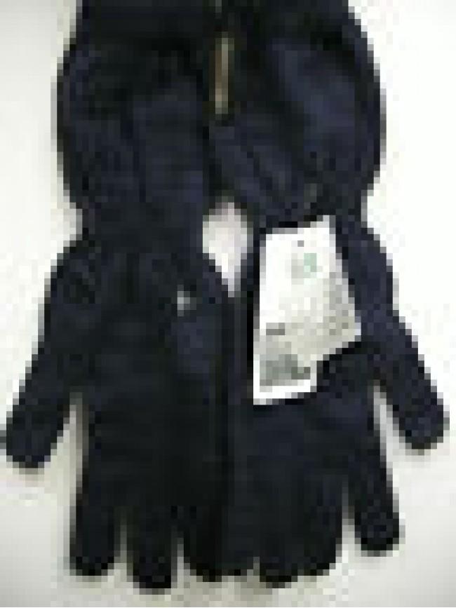 Guanti donna gloves woman ENRICO COVERI guanto medio t.unica c.blu bleu Italy