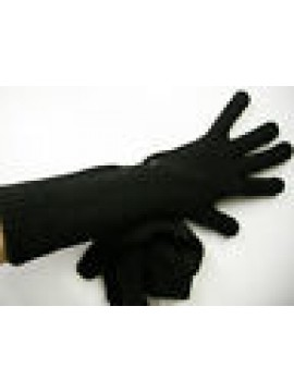 Guanti donna gloves woman ENRICO COVERI guanto medio t.unica c.nero black Italy