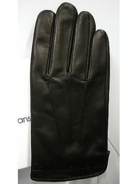 Guanti pelle CK CALVIN KLEIN JEANS art.CMS318 taglia S colore NERO gloves leathe