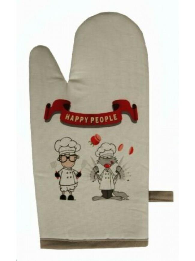 Guantone cucina guanto cotone HAPPY PEOPLE articolo KA07810201 MADE IN ITALY