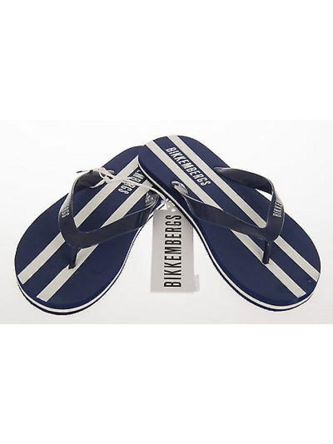 Infradito ciabatta mare uomo slippers BIKKEMBERGS art.P273 W73 T.40 col.3000 BLU