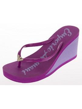 Infradito ciabatta zeppa swimwear EMPORIO ARMANI 261883 4P336 T.39 03191 ORCHID