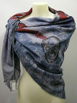 Kefia foulard sciarpa scarf SWEET YEARS art.LF21 col.3 avio teschio skull Italy