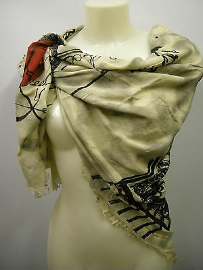 Kefia foulard sciarpa scarf SWEET YEARS art.LF26 colore 1 beige Italy