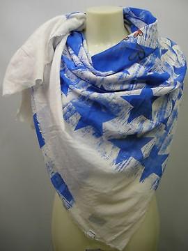 Kefia foulard sciarpa scarf SWEET YEARS art.LF73 col.1 bianco white stars Italy