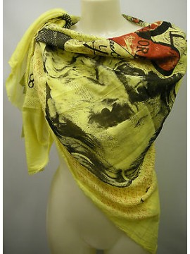 Kefia foulard sciarpa scarf SWEET YEARS art.LF76 col.2 giallo yellow lire Italy