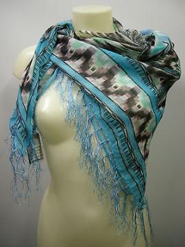 Kefia sciarpa scarf SWEET YEARS art.FT3 colore 2 azzurro