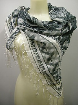 Kefia sciarpa scarf SWEET YEARS art.FT3 colore 4 grigio grey