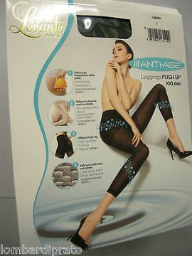 Leggings calzamaglia calza push up anticellulite LEVANTE Anti Age T.4 - XL nero