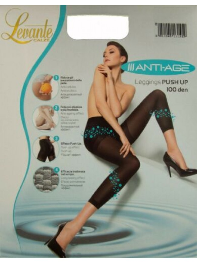 Leggings collant donna senza piede 100 den 110 dtex push up anti cellulite LEVAN