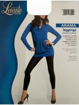 Leggings collant donna senza piede no cuciture microfibra comfort LEVANTE artico