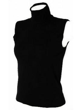 Lupetto smanicato maglia donna RAGNO art. 074523 taglia 2/XS col. 020 NERO BLACK