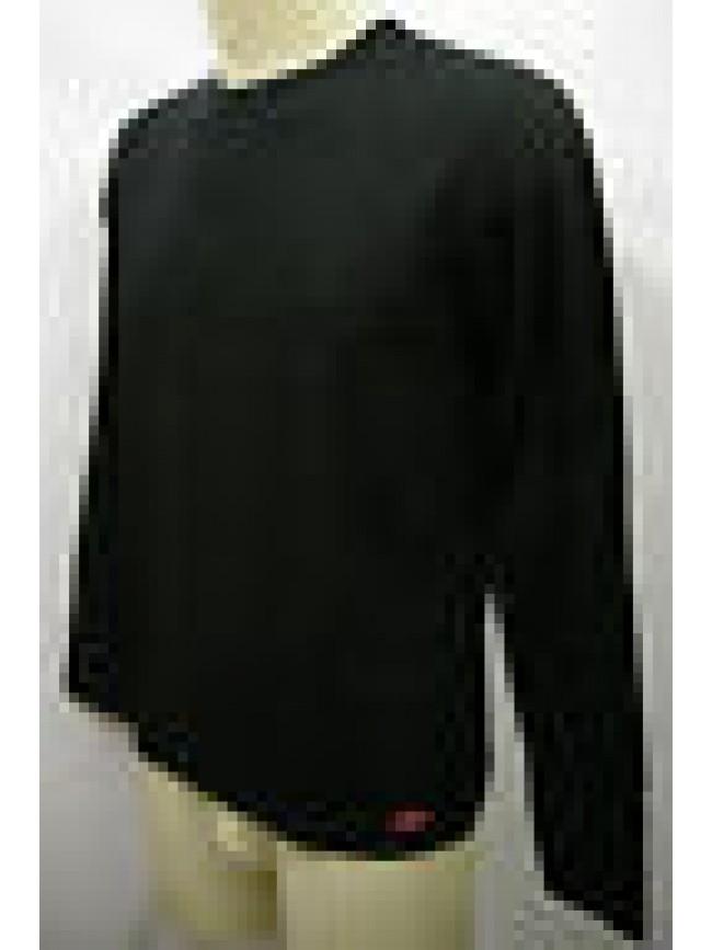 MAGLIA GIROCOLLO T-SHIRT UOMO SWEATER MAN RAGNO A.063859 T.XXL C.020 NERO BLACK