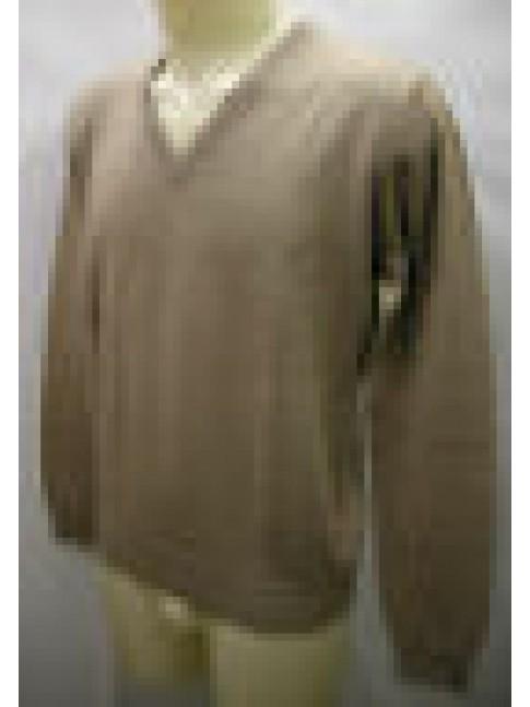 MAGLIA UOMO SCOLLO V SWEATER MAN RAGNO ART.A61042 T.XXXXL / 58 COL.100M CAMMELLO