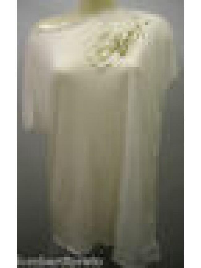 MAXI T-SHIRT MAGLIETTA DONNA WOMAN GUESS FP3D23 JER33 T.44/L U001 BIANCO WHITE