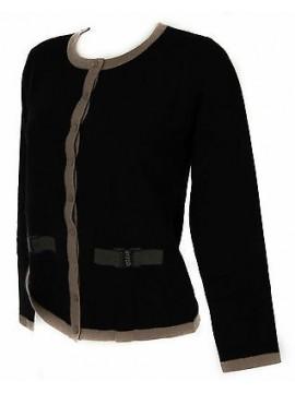 Maglia aperta bottoni coreana donna sweater RISMEL a. M30-1 taglia M c. NERO