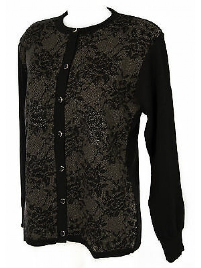 Maglia aperta bottoni donna sweater LINEAELLE art. 545 taglia XL col. GRIGIO