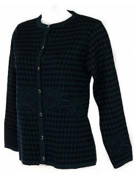 Maglia aperta bottoni giacca donna sweater LINEAELLE art. 573 taglia M col. BLU