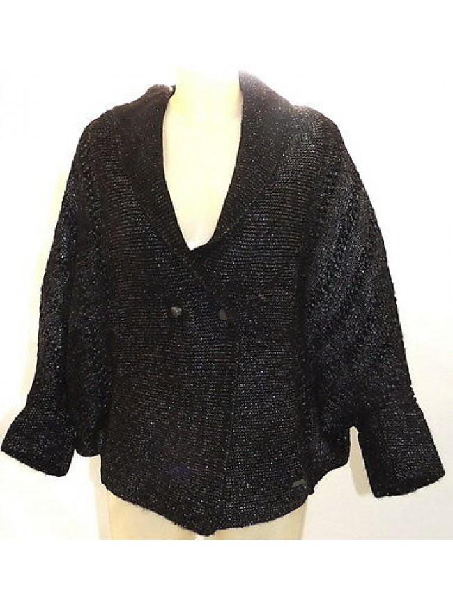 Maglia cardigan giacca donna sweater woman GUESS art.UV8D32 T.L col.996 nero
