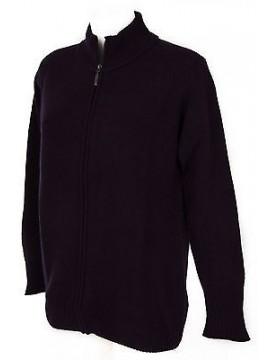 Maglia cardigan zip lana donna RAGNO a. A1100W taglia 52/XL col. 568 OMBRA