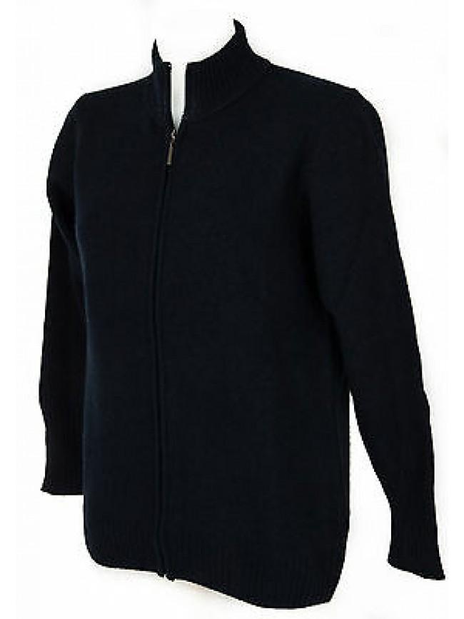 Maglia cardigan zip lana donna RAGNO a. A1100W taglia 56/XXXL col. 113M DENIM
