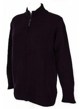 Maglia cardigan zip lana donna RAGNO a. A1100W taglia 56/XXXL col. 568 OMBRA
