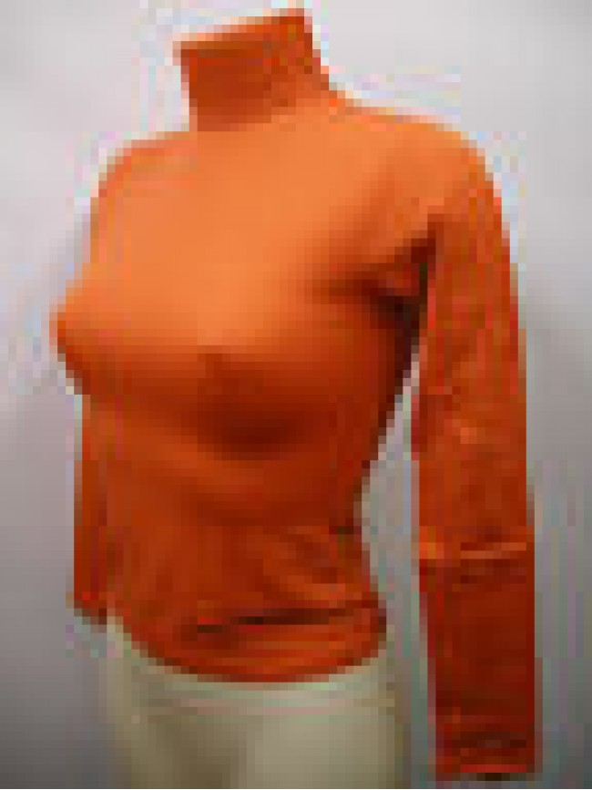 Maglia dolcevita ciclista donna sweater RAGNO 07467K T.2/XS col.401 mandaranci