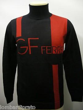 Maglia dolcevita collo alto lana sweater man GF FERRE a.5F2831 T.M c.BLU / ROSSO