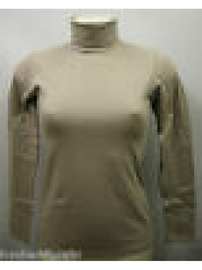 Maglia dolcevita roullè sweater donna RAGNO 07855K velvet T.6/XL col.448K silice